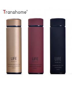 TranshomeⓇ Edelstahl Thermosbecher 500ml Teebecher mit Sieb Thermobecher Thermoskanne Kaffeetasse Edelstahl Thermobecher