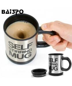 Automatischer Mix Becher Elektrischer selbst Rührer Becher für  Kaffee Milch Mischen Becher Tee Cafe Edelstahl Tasse