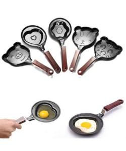 Mini Antihaft Edelstahl Pfanne Herzform Eier Pancake Topf Braten Pan Küche