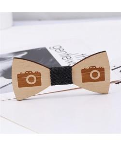 Holz Fliege Zubehör Hochzeit Totenkopf und andere Muster Bambus Krawatte