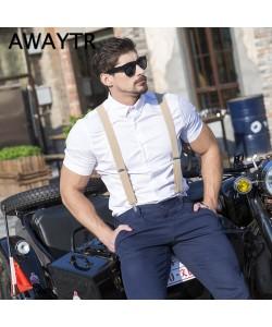 Brauch offizieller Shop weltweit verkauft Männer Hosenträger X Sharp Dreieck Klammern Geschenke für Männer Anzug Suit