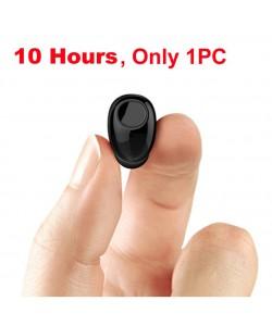 Mini Bluetooth Kopfhörer 10 Stunden Gesprächzeit, Bluetooth Headset Wireless-Earbud Kopfhörer-Freisprecheinrichtung unsichtbar u