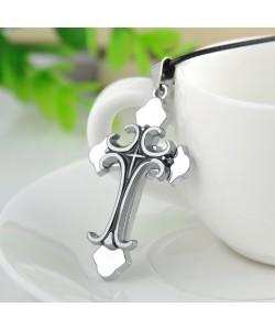 Massives Edelstahl Kreuz Anhänger + Halsketten Kruzifix Jesus Christ Schmuck Konformation