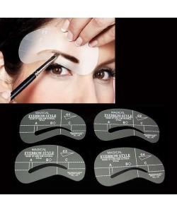 4 x Augenbraun Schablonen Modell DIY Schönheit Make Up Augenbrauen selber Designen