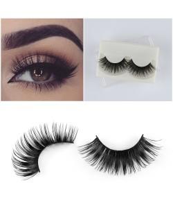 1 Paar Professionelle Wimpern Lashes schwarze natürliche Auge Falsche Wimpern Verlängerung Make-Up Lange Falsche Wimpern Verläng