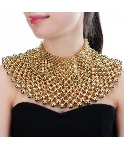 Statement Halskette für Frauen Chunky Extrem Kragen Halsband Perle Halskette Maxi Schmuck