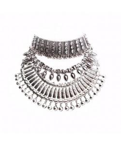 Statement Kragen Münzen Halskette Vintage Maxi Halsband Aussagekräftig Collier weiblich Boho Orientalisch türkisch Schmuck