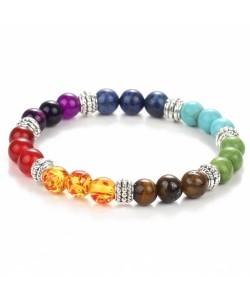 Sieben Farben Chakras Edelstein armband gesundheit reiki gebet stein armband heil
