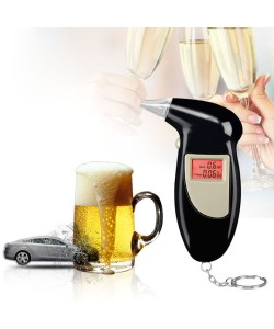 Original Mini Alkoholtester Professionelle Digitale Atem Alkohol Tester Akustischer alarm LCD Promille Bier Wein Sekt Wodka