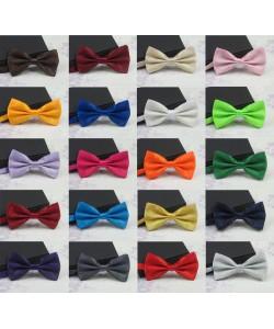 Einfarbige Fliege für Herren Mode Smoking Klassische Krawatte Hochzeit Bowtie Männer