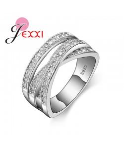Mode Ringe Für Frauen Party Elegante Luxus Brautschmuck 925 Silber Beschichtung Hochzeit Verlobungsring