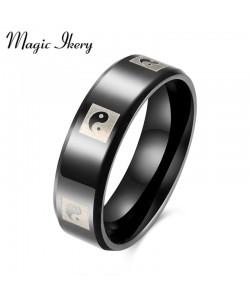 Ying Yang Titan Schmuck Herren Ringe 316L Edelstahl Ring Für Männer Frauen Modeschmuck